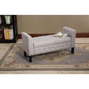 Ferndown Gray Fabric Storage Ottoman by Darby Home Co