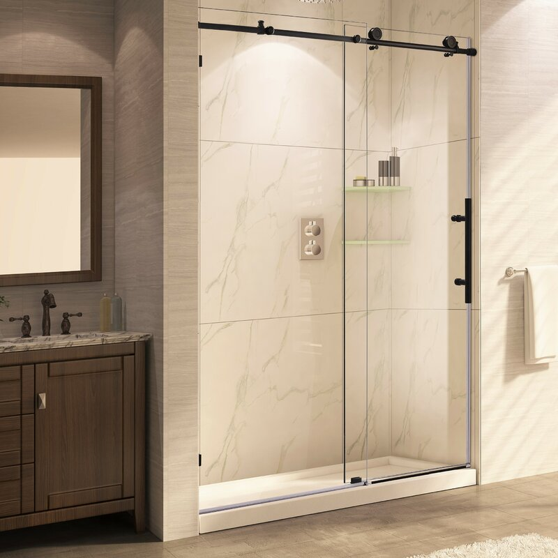 Wet Republic Trident Mocha 60 x 76 Single Sliding Frameless