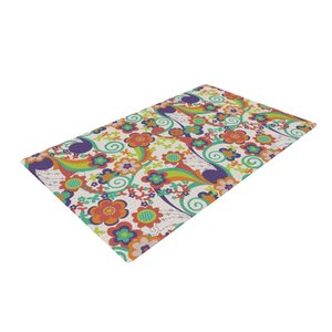 Louise Machado Printemps Green/Purple Area Rug
