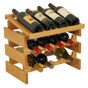 Dakota 12 Bottle Tabletop Wine Rack by Wooden Mallet