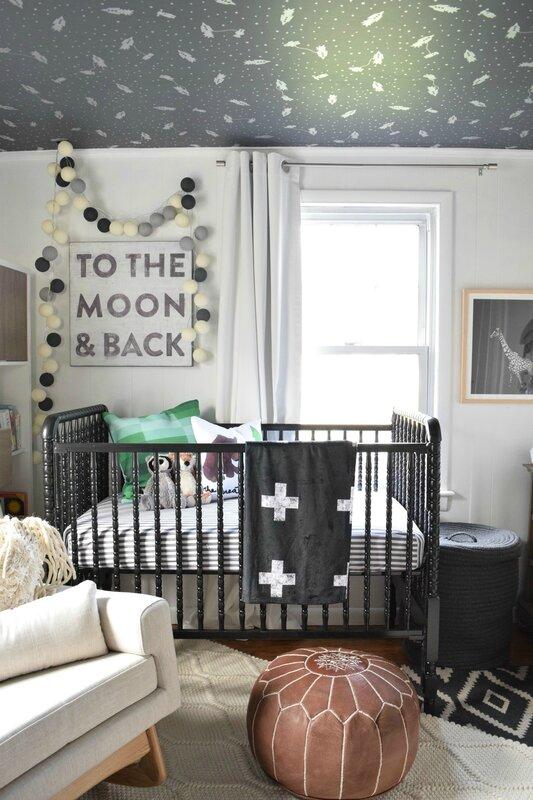 baby boy nursery ideas nesting with grace crib wallpaper
