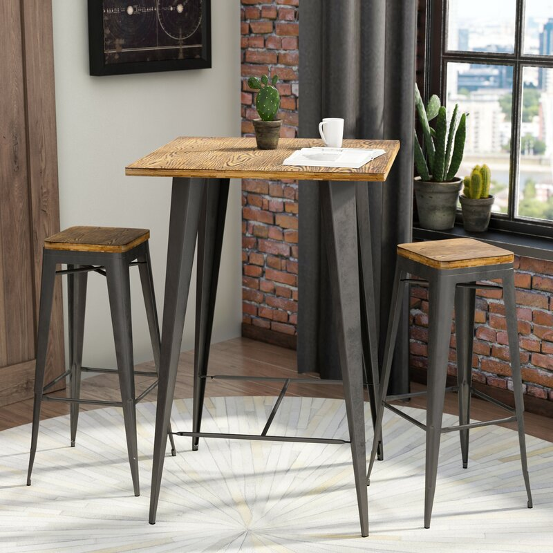 Trent Austin Design Claremont 3 Piece Pub Table Set & Reviews | Wayfair