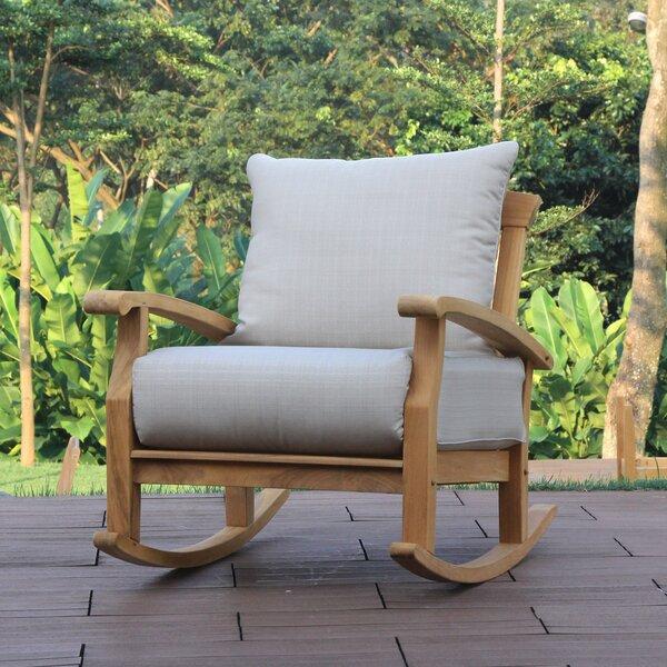 Birch Lane Heritage Summerton Teak Rocking Chair With Cushions Reviews
