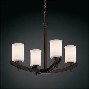 Textile 4-Light Shaded Chandelier