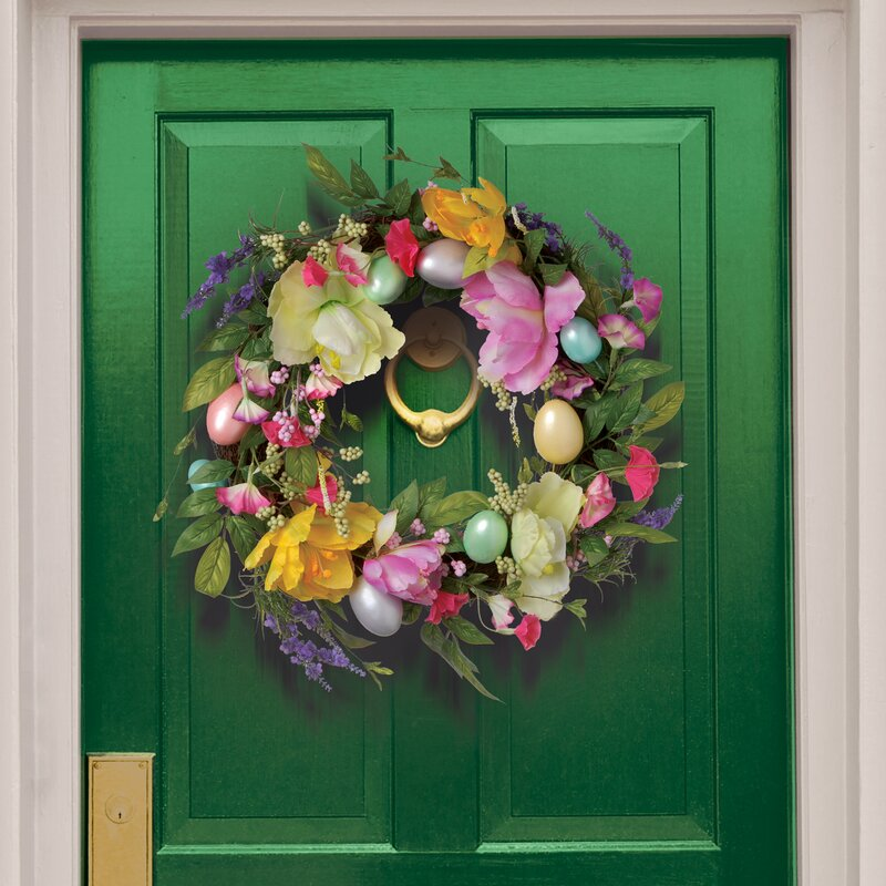 National Tree Co 20 Quot Tulip And Easter Egg Wreath