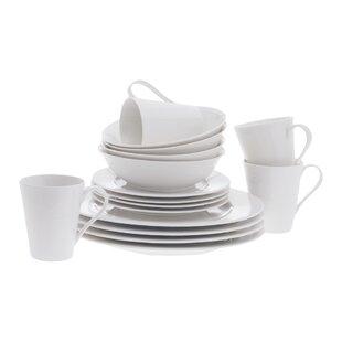 White Basics Cosmopolitan 16 Piece Dinnerware Set Service for 4  sc 1 st  Wayfair & White Beaded Dinnerware Set | Wayfair