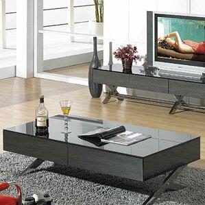 glass tables for living room.  Modern Glass Coffee Tables AllModern