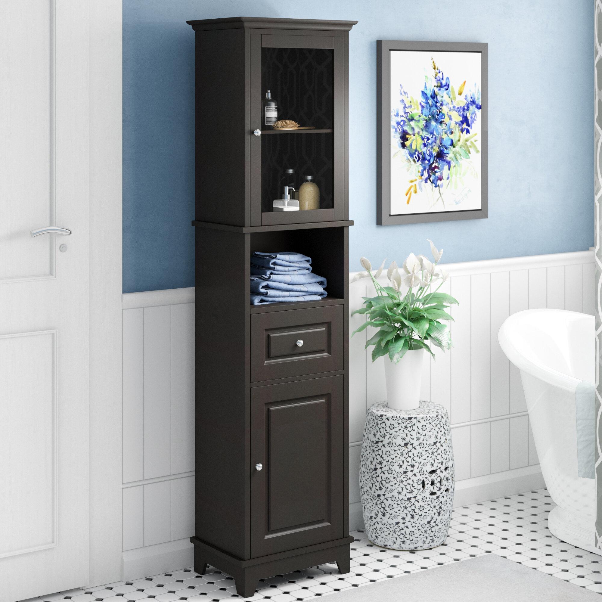 three posts new paltz 18 11 x 70 87 linen tower reviews wayfair rh wayfair com Linen Cabinets for Small Bathrooms bathroom cabinets and linen towers