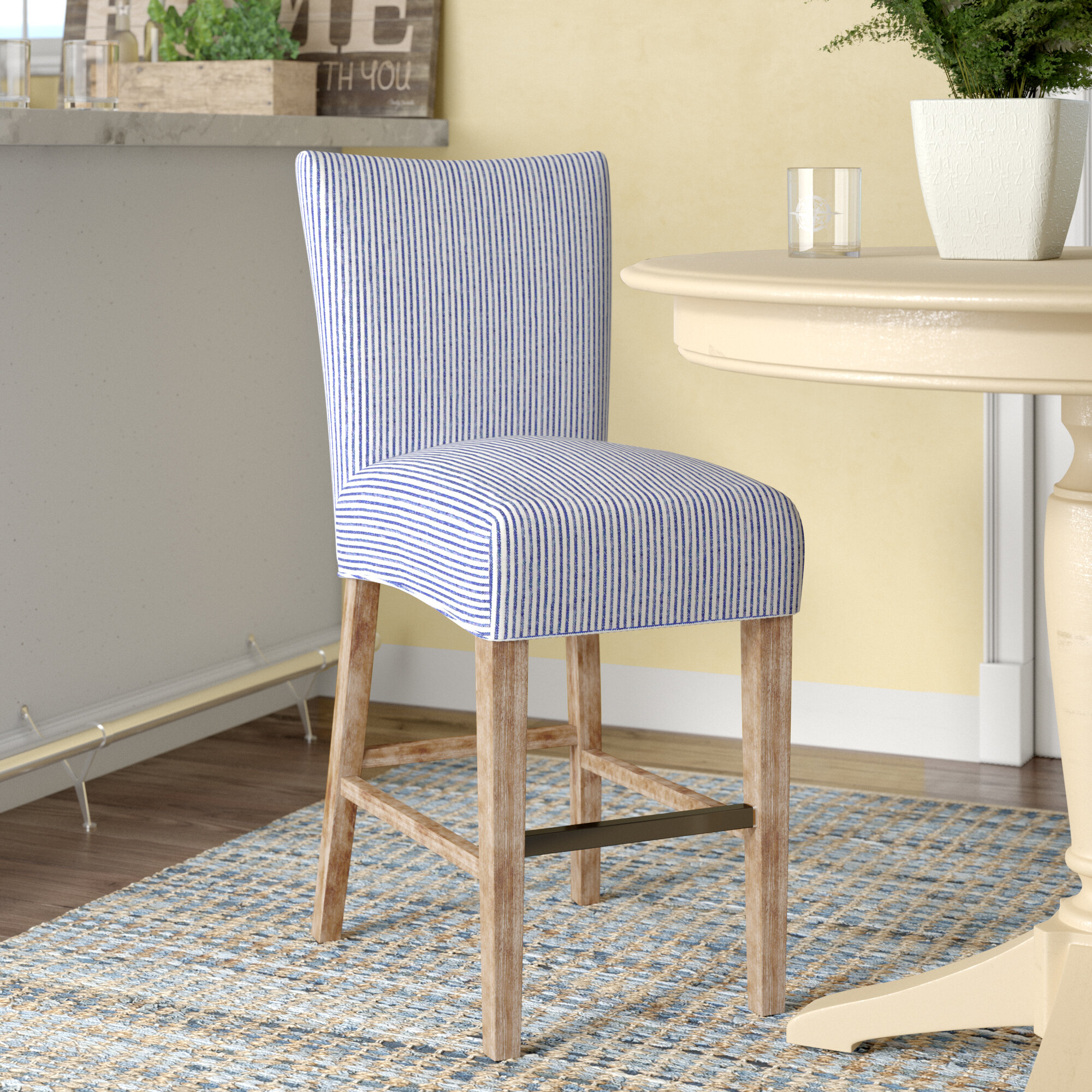 Breakwater Bay Ginevra 26 Counter Stool With Cushion Reviews