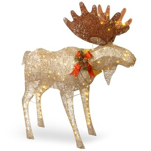 moose decoration figurine - Indoor Christmas Reindeer Decorations