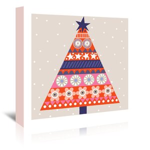 Christmas Tree Alt Graphic Art on Wrapped Canvas