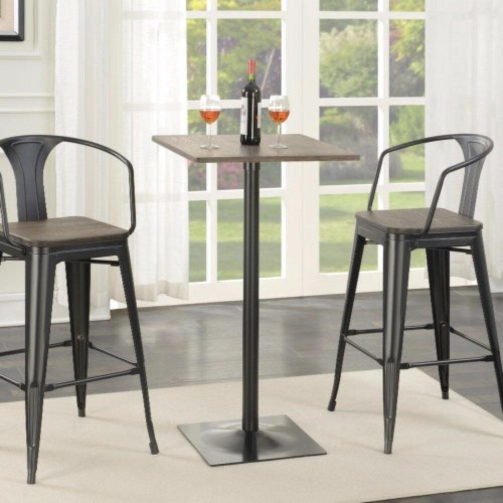 Industriel Table Basse Palette williston forge mccown industrial square metal pub table
