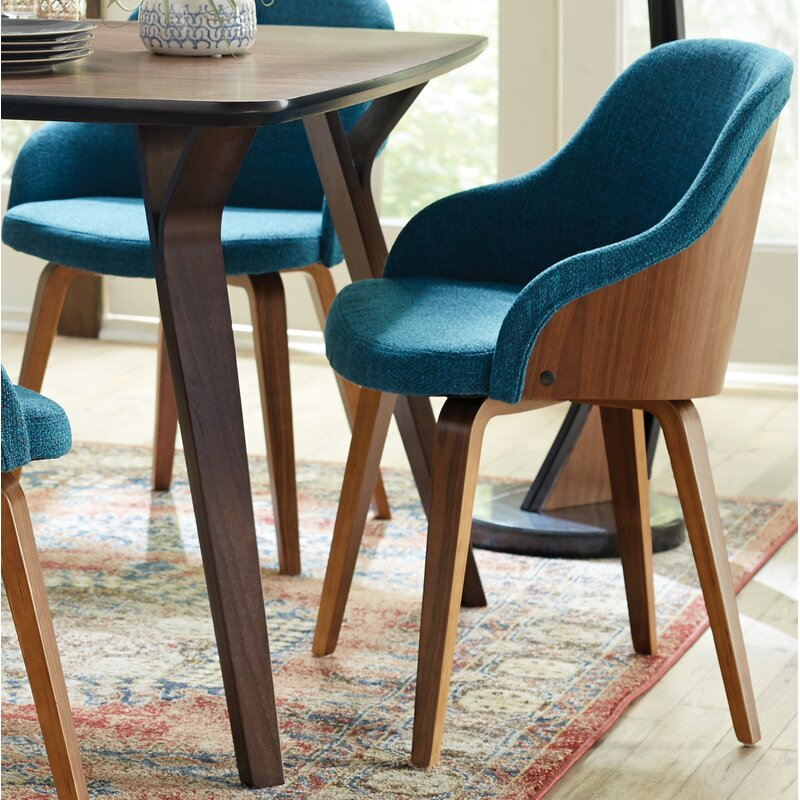 George Oliver Brighton Mid Century Modern Upholstered Dining Chair