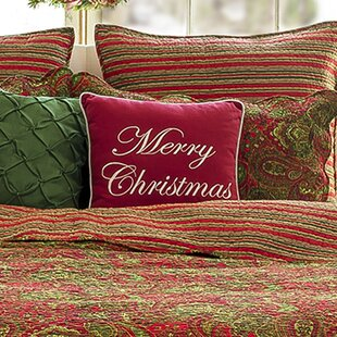 reynal merry christmas throw pillow