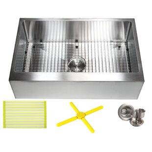 Drop In Farmhouse Kitchen Sink Drop in apron front sink wayfair ariel 30 x 21 farmhouseapron kitchen sink with additional accessories workwithnaturefo