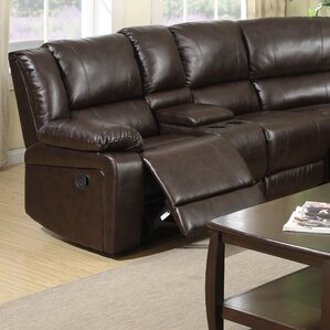 Airo Laf Reclining Loveseat with Console by ..