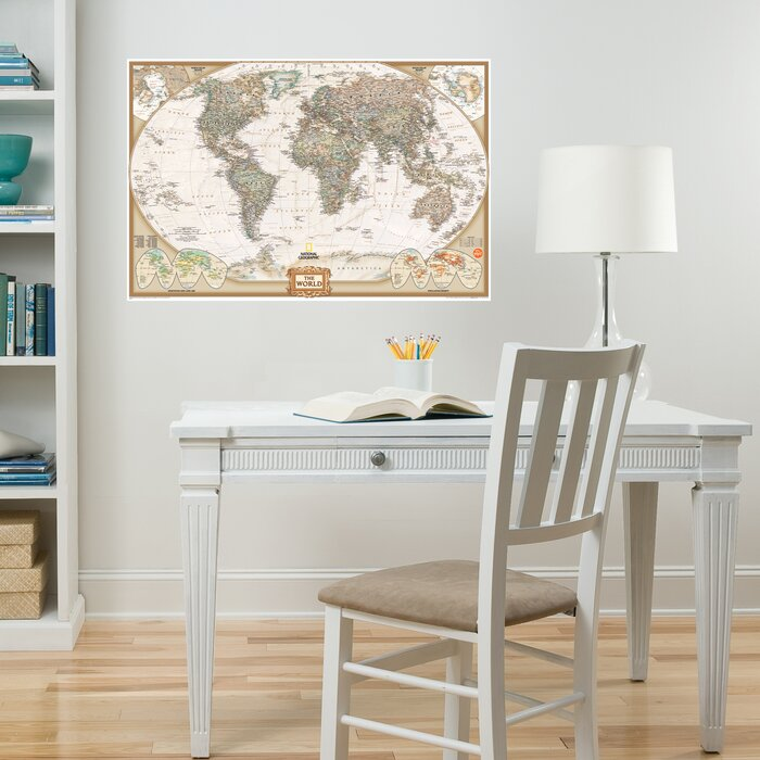 Wallpops wall art kit national geographic world map wall mural wall art kit national geographic world map wall mural gumiabroncs Images