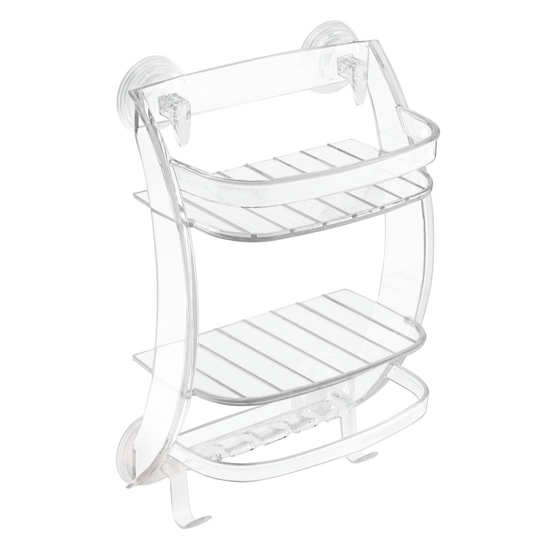 interdesign power lock suction shower caddy wayfair rh wayfair com best suction shower shelves best suction shower shelves