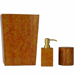 kayleigh genuine leather 3 piece mini bathroom accessory set