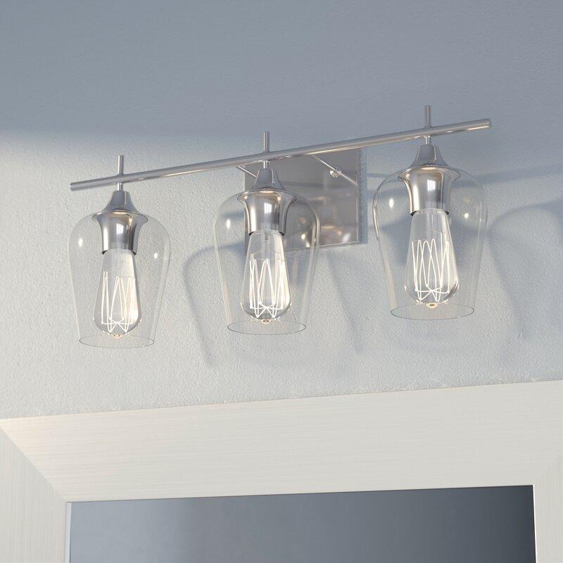 Zipcode Design Staci 3-Light Vanity Light & Reviews | Wayfair