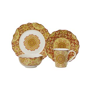 Lyria 16 Piece Dinnerware Set Service for 4  sc 1 st  Wayfair & Burnt Orange Dinnerware Sets | Wayfair