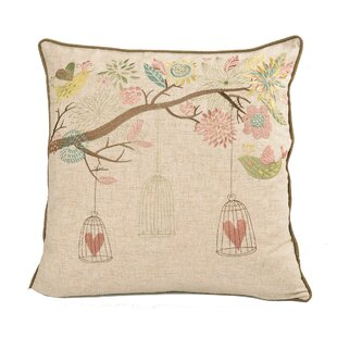 Etchemin Embroidered Whimsical Throw Pillow