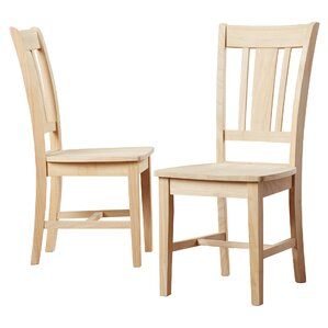 Slat Back Chairs slat back unfinished kitchen & dining chairs you'll love | wayfair