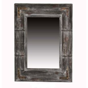 Wulfson Distressed Wooden Frame Accent Mirror