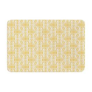 Apple Kaur Designs Diamonds Squares Memory Foam Bath Rug