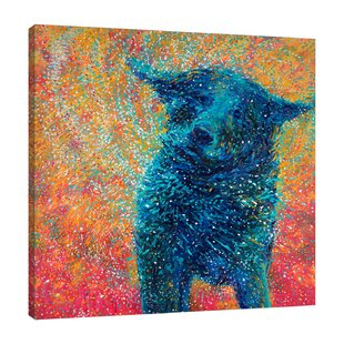 8b40c64e9a7  Big Dog Shake  by Iris Scott Painting Print on Wrapped Canvas