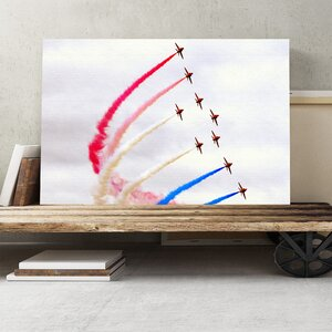 Red Arrows RAF Airshow Photographic Print on Canvas