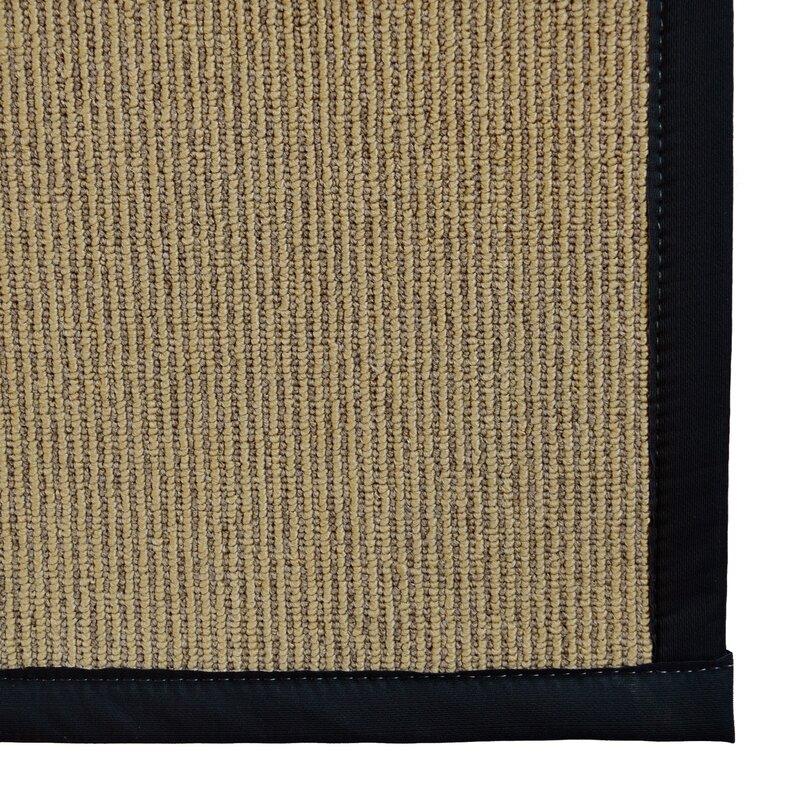 Marica Synthetic Sisal Black Area Rug
