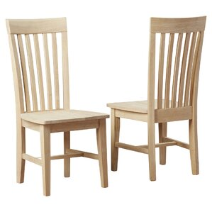 Toby Slat Back Solid Wood Dining Chair (S..