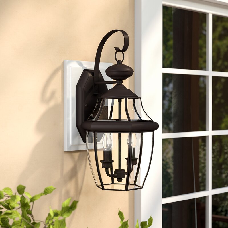 Darby Home Co Laceyville 2 Light Outdoor Wall Lantern Reviews