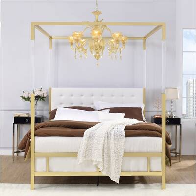 b24fa5ba24f4a Bay Isle Home Gerakies California King Four Poster Bed with Canopy ...