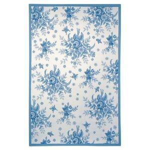 Isabella Ivory / Blue Rug