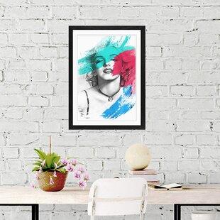 U0027Black And White Art Marilyn Monroeu0027 Framed Art Print