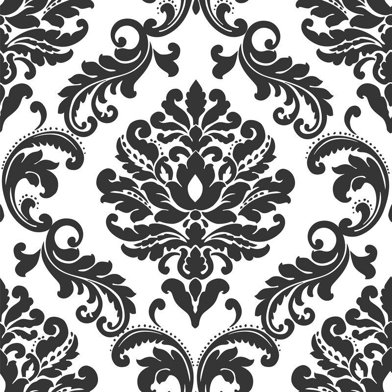 Wallpops 18 L X 20 5 W Damask Peel And Stick Wallpaper Roll
