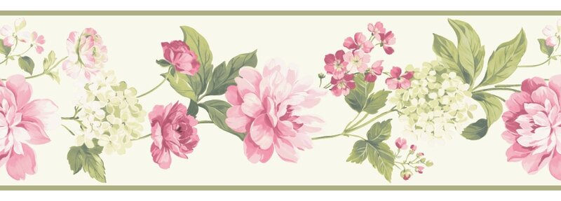 Brewster Home Fashions 15 X 8 Quot Peony Border Wallpaper
