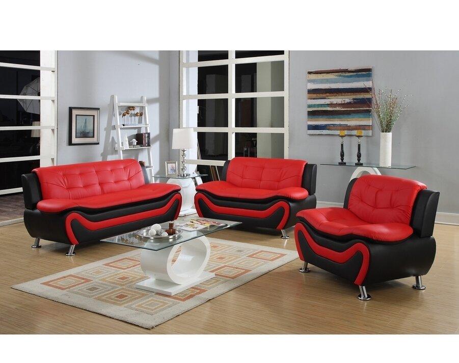 PDAEInc Roselia 3 Piece Living Room Set & Reviews | Wayfair