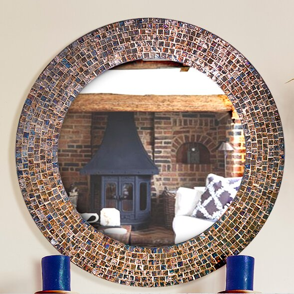 Decorative Embossed Gl Mosaic Tile Wall Mirror