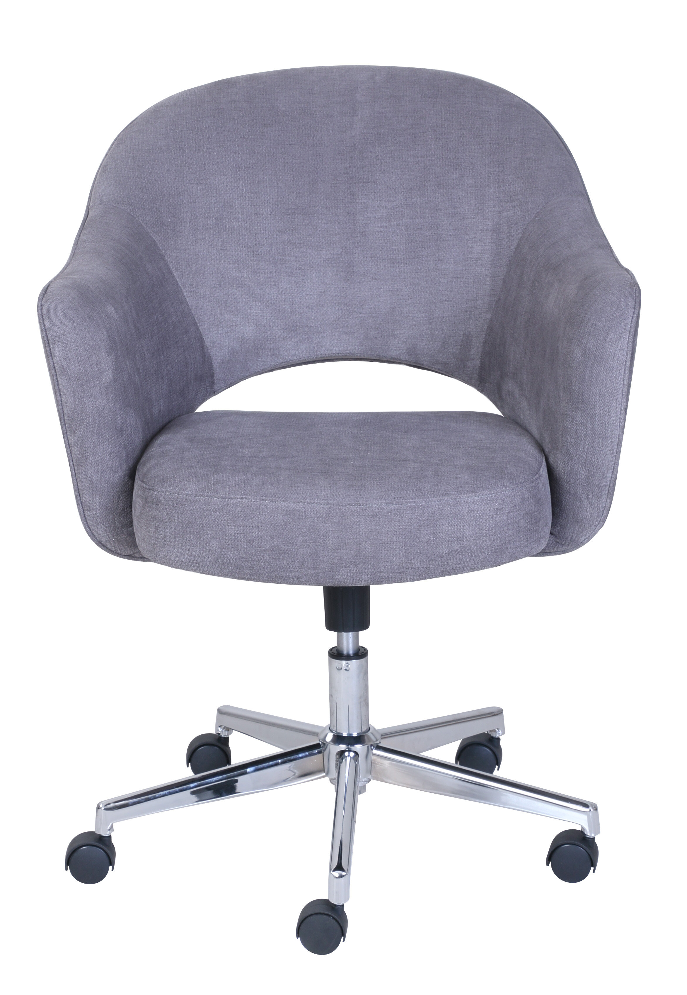 grey lauren executive zoom dark or chair high leather office back desk image aluminum base gray over to larger mouse view genuine click