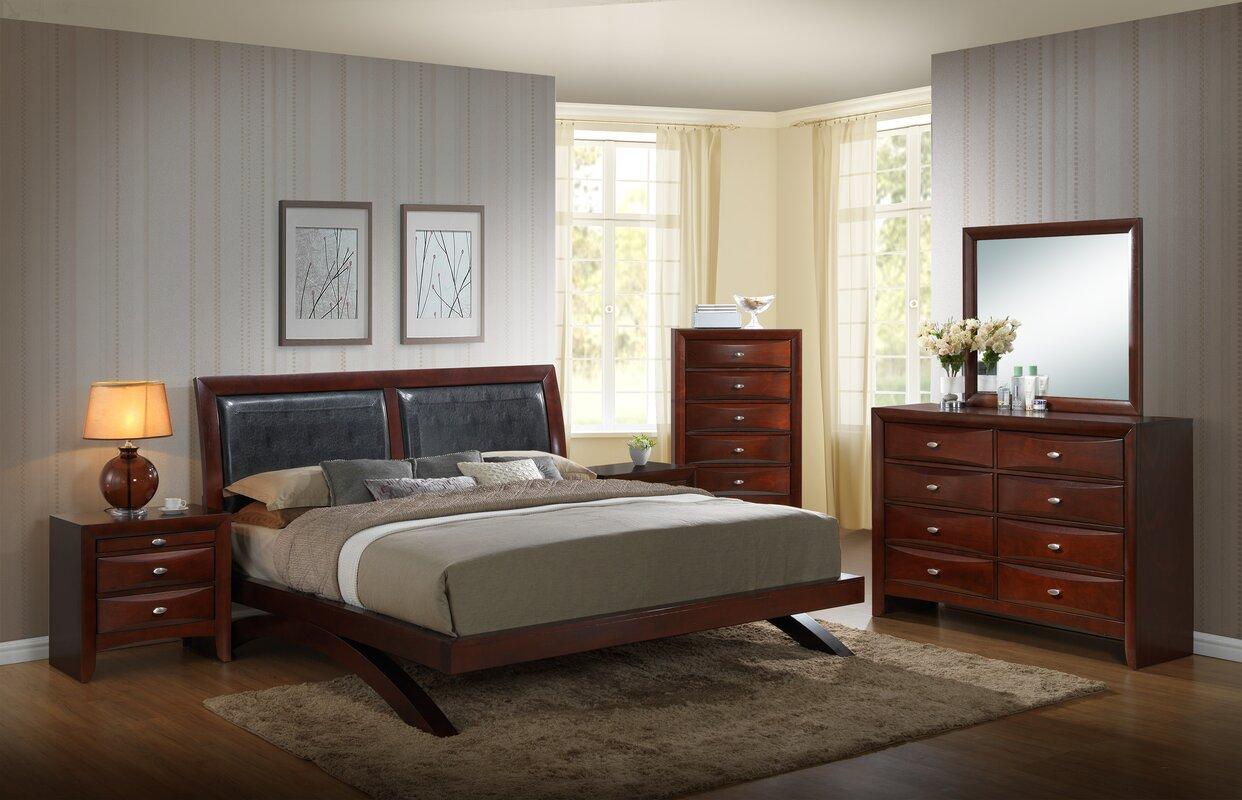 red barrel studio plumcreek platform 5 piece bedroom set reviews. Black Bedroom Furniture Sets. Home Design Ideas