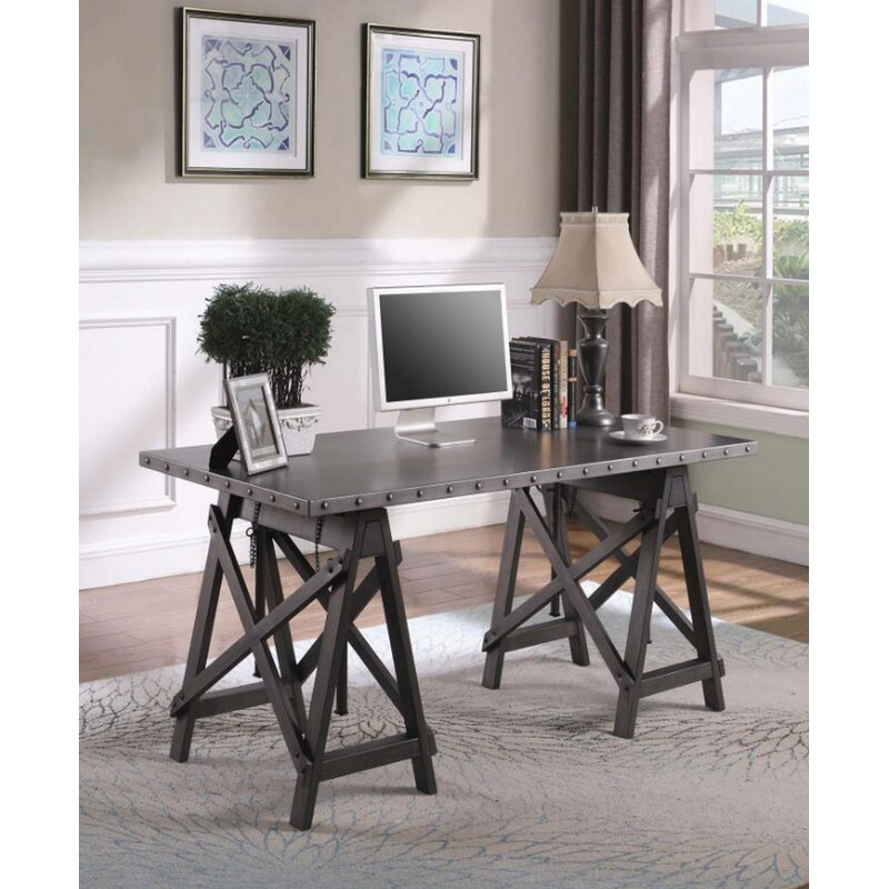 17 Stories Leda Adjustable Desk Wayfair