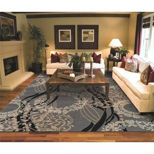 Kirkbride Wool Gray Indoor/Outdoor Area Rug