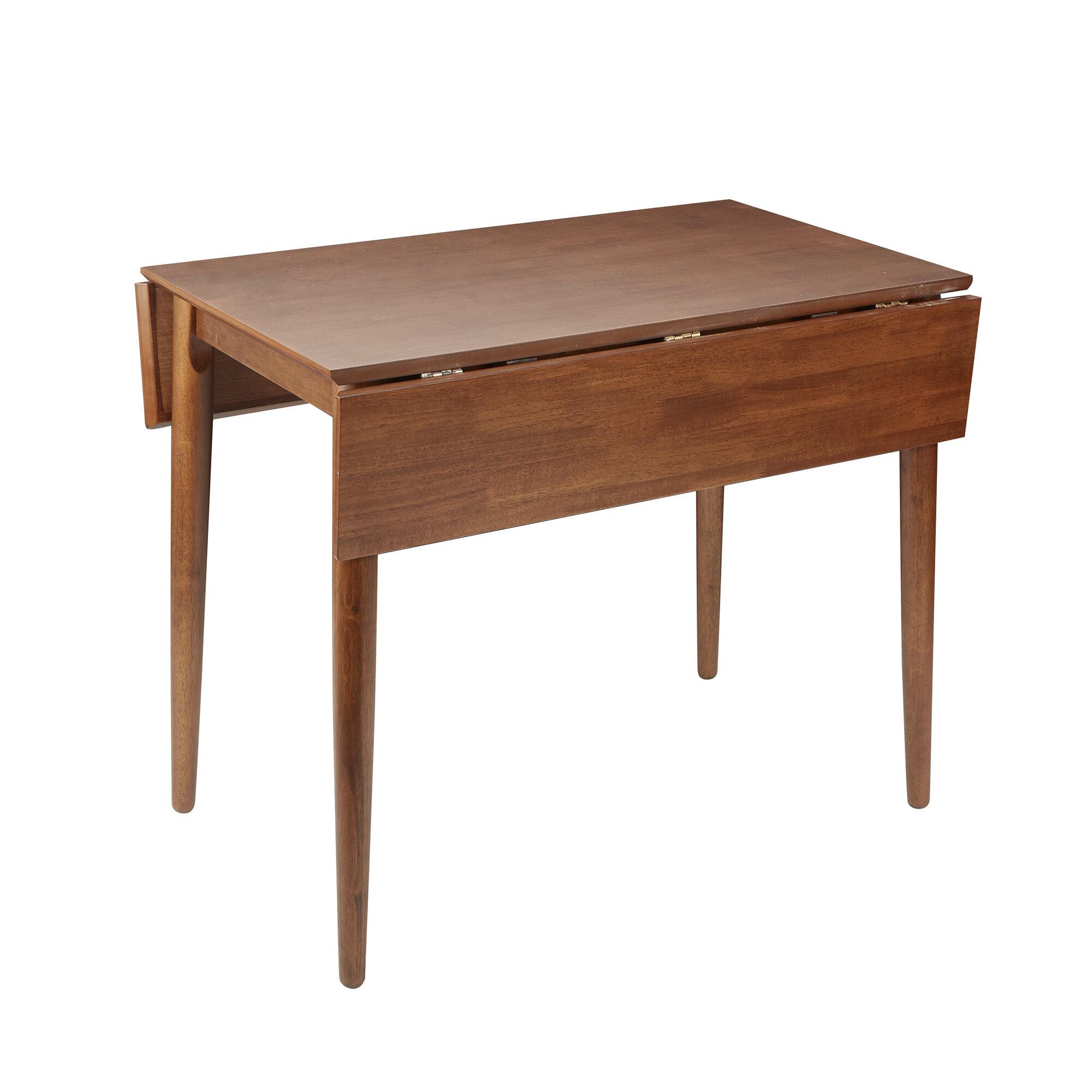 0552f3739e40 Ebern Designs Alidade Mid-Century Modern Drop Leaf Dining Table ...