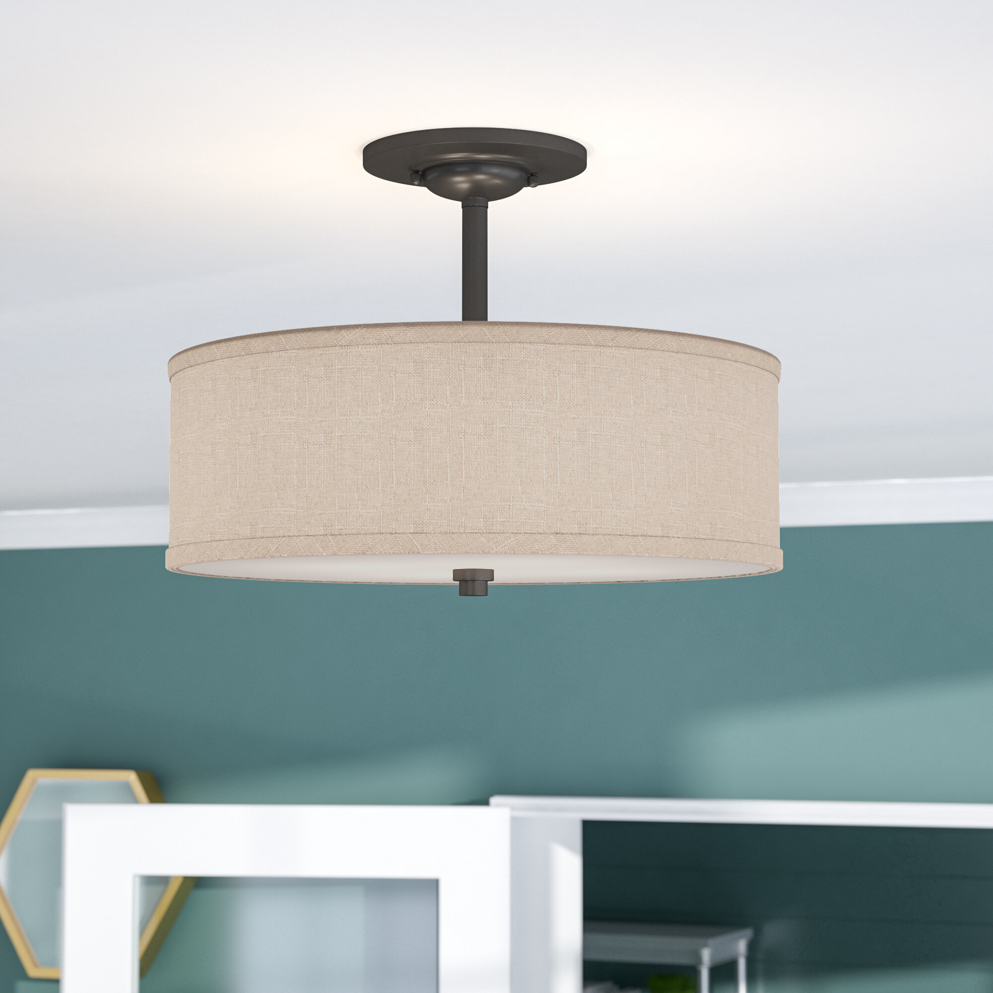 Brayden Studio Havens 3-Light Semi Flush Mount & Reviews | Wayfair