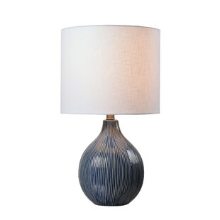 Blue table lamps youll love wayfair tryphosa plow accent 23 table lamp aloadofball Images