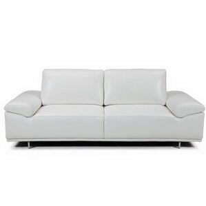 Roxanne Leather Reclining Sofa by Bellini Mo..