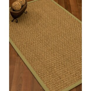 Antiqua Border Hand Woven Beige Khaki Area Rug